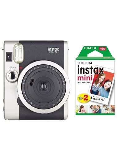 Instax Instax Neo 90 Classic Siyah Fotoğraf Makinesi Ve 20'Li Mini Film Siyah